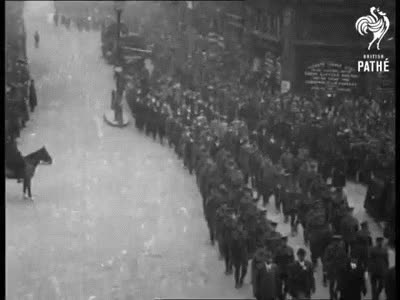 Watch and share Soldiers Marching Through London (1914-1918) GIFs on Gfycat