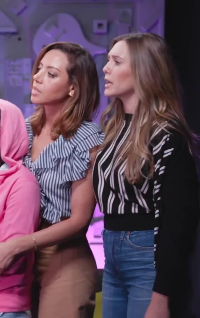 Watch and share Elizabeth Olsen GIFs and Aubrey Plaza GIFs on Gfycat