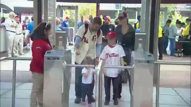 Watch and share Phillies Kid Walking Under Turnstile GIFs by efitz11 on Gfycat