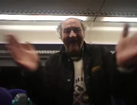 A most excellent drunken chap on the train to Glasgow