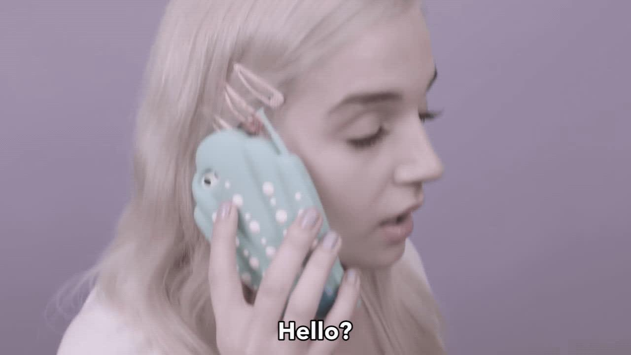 hello, hi, phone, poppy, that poppy, Poppy Hello GIFs