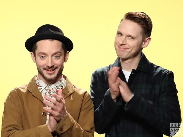Watch and share Elijah Wood GIFs and Clapping GIFs by Streamlabs on Gfycat