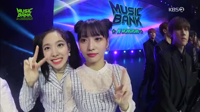 Watch Cuties Nayeon and Momo GIF by Ahrigato (@ahrigato500) on Gfycat. Discover more Music Bank Hongkong, Nayeon GIFs on Gfycat
