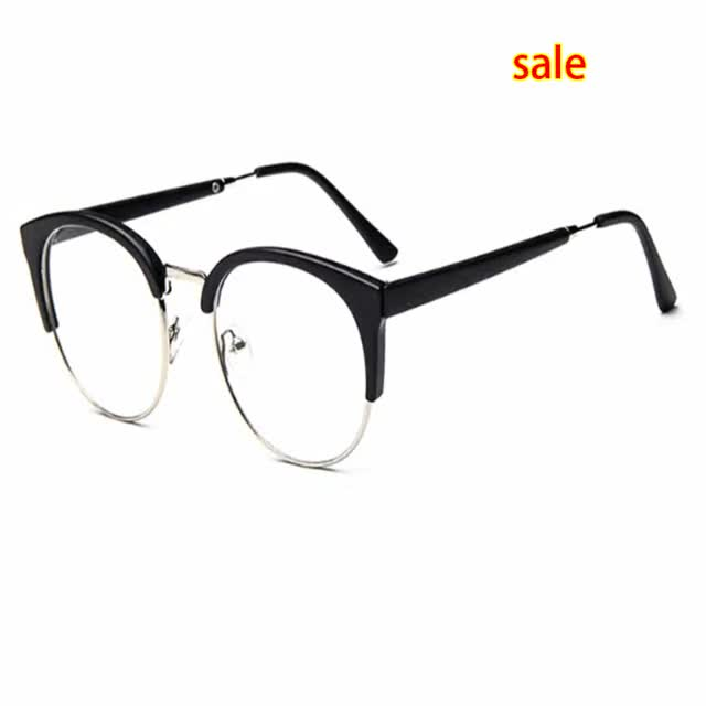 Watch and share Cheap Unisex Retro Glasses Best Semi-Rim Round Eyeglasses Frame GIFs on Gfycat