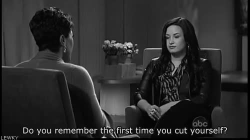 Watch and share Demi Demi Lovato Cutting Cuts Self Esteem GIFs on Gfycat