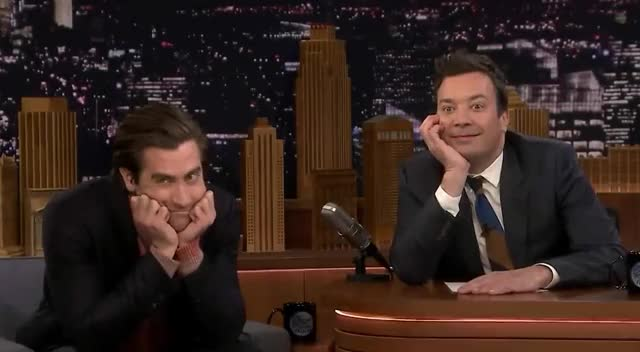 Jake Gyllenhaal Is Obsessed with Tom Holland as Spider-Man wake up tom tired think sweet sleep obsessed love jimmy jake holland gyllenhaal fallon dreamy daydream bored aww trending curated GIF