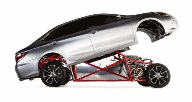 Watch SEMA Jaw-Dropper! 850HP Toyota Camry Dragster is Sleeper King GIF on Gfycat. Discover more related GIFs on Gfycat