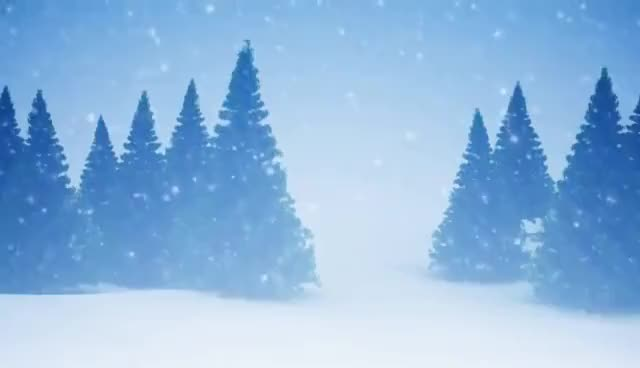 Watch and share Celtic Harp Christmas Music With Snow Falling On Pine Trees GIFs on Gfycat