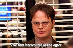 Watch and share Sexual Intercourse GIFs and Dwight Schrute GIFs on Gfycat