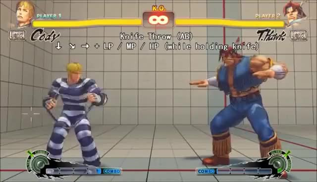 Ultra Street Fighter Iv Cody Move List Gif Gfycat