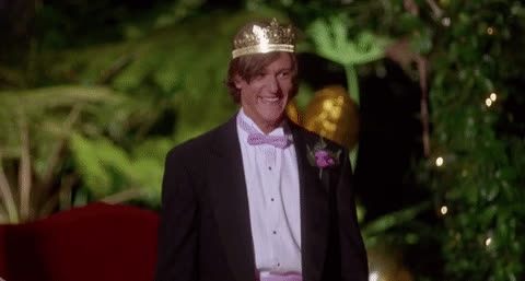 Billy Christianson, Vincent Ventresca, excited, prom king, romy and michelle, yes, Billy Christianson Excited GIFs