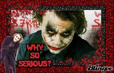 Watch and share Joker Why So Serious GIFs on Gfycat