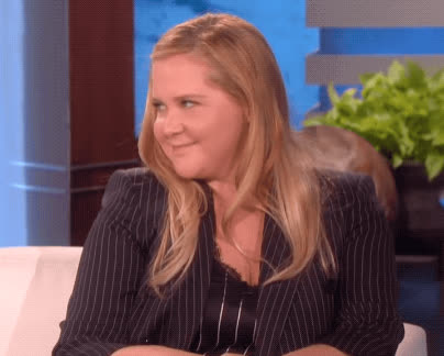 adorable, amy schumer, awww, blush, cute, ellen show, oh shucks, Amy Schumer Blush GIFs
