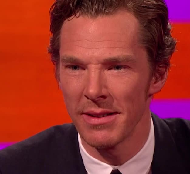 Benedict Cumberbatch, GIF Brewery, benedict, cumberbatch, dumb, face, funny, graham, impression, norton, sherlock, show, silly, stupid, Funny Benedict Cumberbatch GIFs