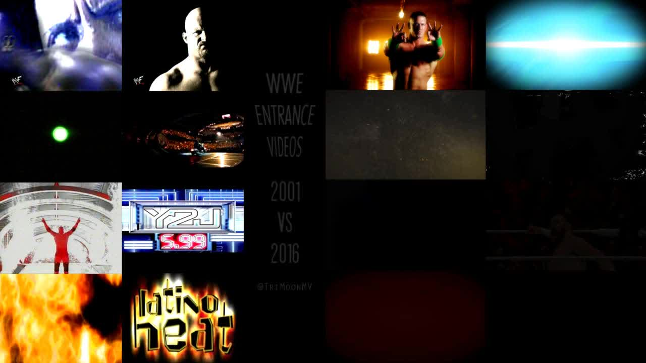 imagesofthe2000s, soccer, squaredcircle, WWE Entrance Videos 2001 vs 2016 (reddit) GIFs