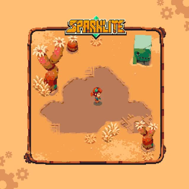 Watch and share The Beautiful Biomes Of Sparklite! GIFs by mergegames on Gfycat