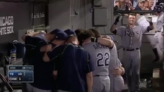 Canada, MLB, Richie Shaffer, Tampa Bay, Tampa Bay Rays, US, USA, VICE, VICE Sports, alone, baseball, celebration, forever alone, foreveralone, major league baseball, player, rookie, single, sport, sport news, sports, sports news, Ray Rookie Celebrates First Home Run All By Himself   VICE C GIFs