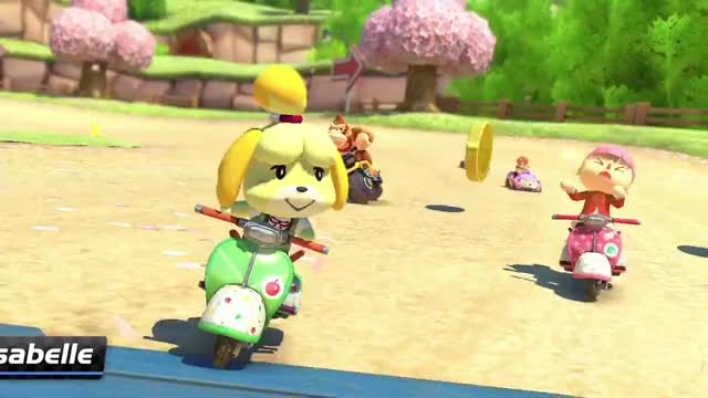 Watch and share Mario Kart 8 Deluxe GIFs and Mario Kart Isabelle GIFs by Mr. Panda on Gfycat