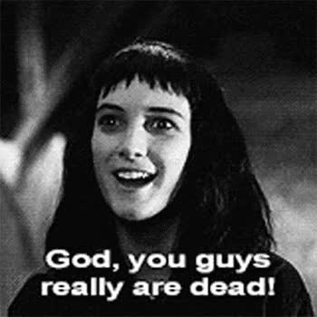 Watch and share Vintage Horror Beetlejuice Dead Winona Ryder Horror Gif Vintage Gif Vintage Movie GIFs on Gfycat
