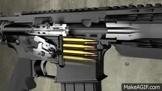 Watch and share Anderson AR-15 Function Animation Explains RF85 No Lube Rifle GIFs on Gfycat