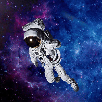 astronaut, astronauts, outer space, space, astronaut floating in space GIFs