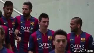 Watch and share FIFA 15 - FC Barcelona Player Tournament - Messi, Neymar, Alves, Piqué, Alba, Rakitić, Bartra, Munir GIFs on Gfycat
