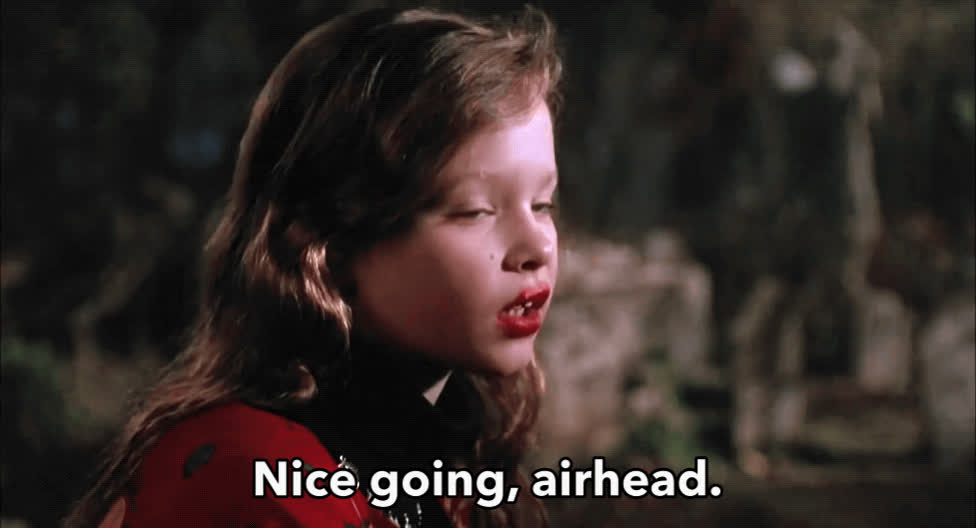 airhead, duh, dumb, good job, hocus pocus, idiot, nice going, sarcasm, stupid, Nice Going Airhead GIFs