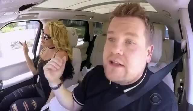 britney spears, celebs, Britney Spears Carpool Karaoke GIFs