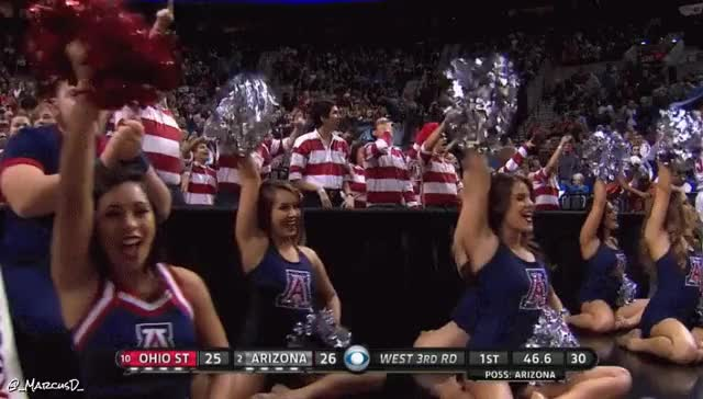 Watch Arizona Cheerleaders (reddit) GIF by MarcusD (@-marcusd-) on Gfycat. Discover more collegebasketball GIFs on Gfycat