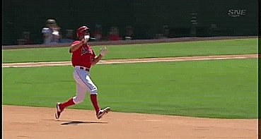 WahoosTipi, baseball, Tulowitzki tags David Murphy out as he leaves contact with the base coming out of a slide at second (reddit) GIFs