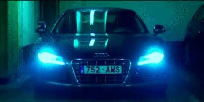Watch Audi GIF on Gfycat. Discover more Lights, audi, garage GIFs on Gfycat