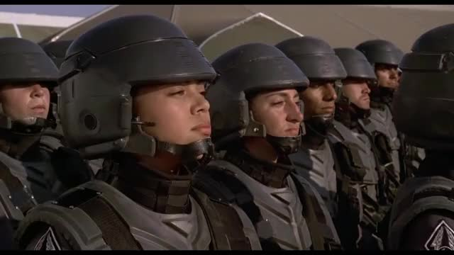 Watch and share Starship Troopers GIFs and News Reel GIFs by darksideflame on Gfycat