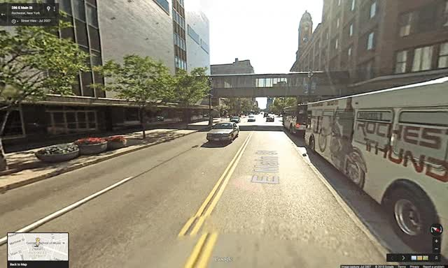 Watch Street View before & after image of Main Street, Rochester. [ Street View] GIF on Gfycat. Discover more related GIFs on Gfycat