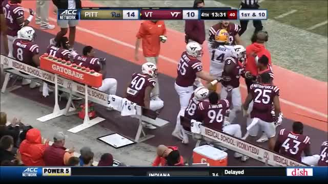 Watch blocked GIF by @hudso3 on Gfycat. Discover more 2017, CFB, LG, NCAA, OLine, Pitt, Prospect, Virginia Tech, Wyatt Teller, football GIFs on Gfycat