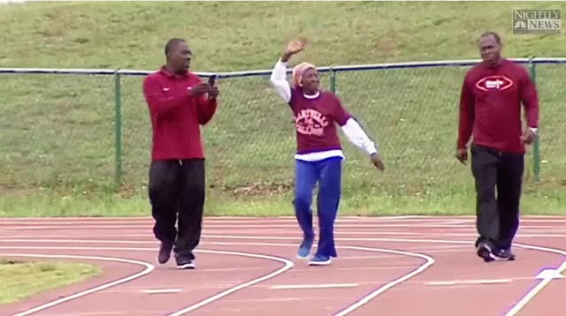 Watch and share 100 Year Old Ella Mae Colbert Set New Record For 100 Meter Dash, Now I Know What I'm Doing On My 100th Birthday GIFs on Gfycat