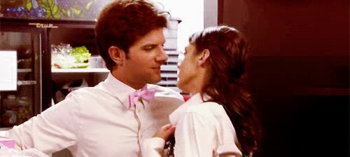 Watch and share Adam Scott GIFs and Kiss GIFs on Gfycat