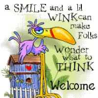 Watch and share Welcome Smile And Wink animated stickers on Gfycat