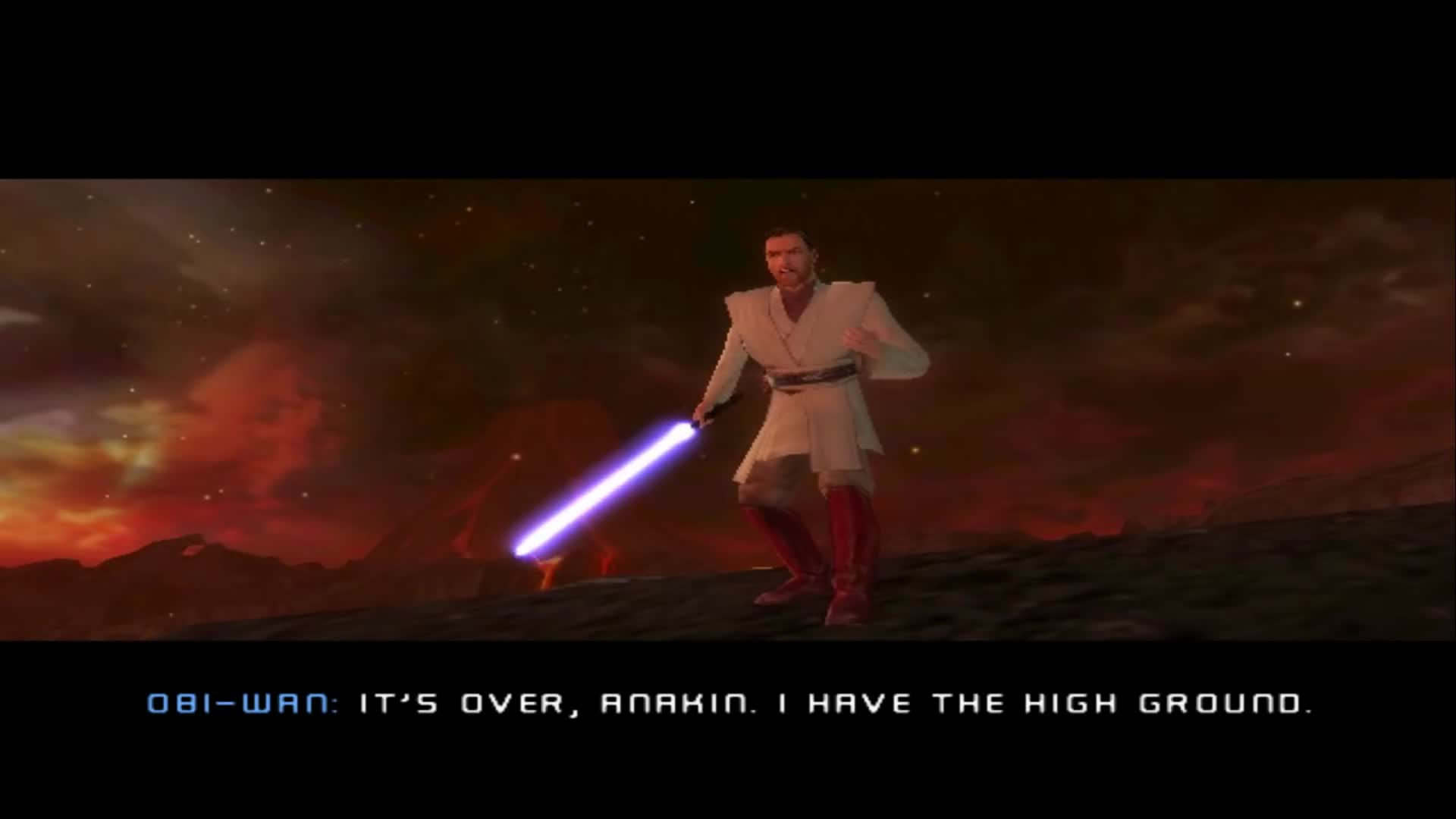 Revenge Of The Sith Ps2 Alternate Ending Anakin Kills Obi Wan Gif By Vistalg Gfycat