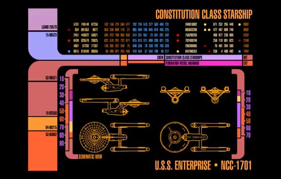 Watch and share Star Trek LCARS - Constitution Class GIFs on Gfycat