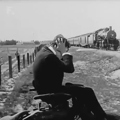Silent movies did some pretty crazy shots with trains GIFs