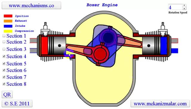 4 Cylinder Boxer Engine Diagram