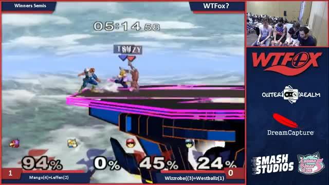 WTFox: Mango & Leffen vs Wizzobe & Westballz (WS)