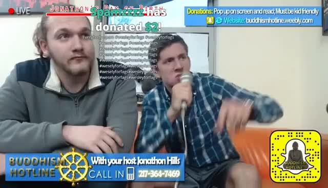 Watch and share Buddhism Hotline - 4chan TROLL CALLS (3-13-17) [Jonathon's Birthday] GIFs on Gfycat