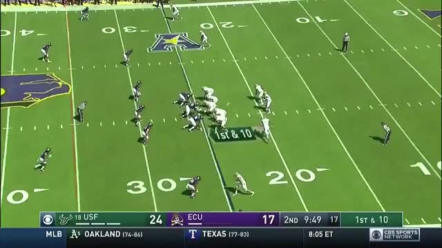 Watch and share Marquez Valdes-Scantling 76-yard TD Run Vs. ECU GIFs by scarycookiemonster on Gfycat