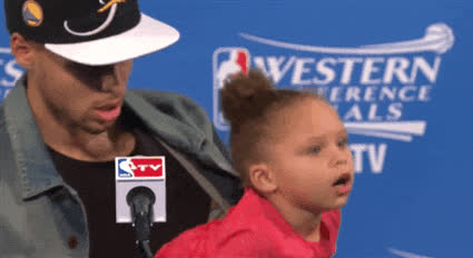 steph curry, stephen curry, riley curry, over it, bye GIFs