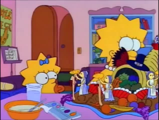 Watch Thanksgiving Centerpiece GIF by Randomgifs (@domdare) on Gfycat. Discover more Lisa Liberal, Lisa Simpson Liberal, LisaSimponLiberal, Simpson Liberal, Simpsons Liberal, Thanksgiving, The Simpson, feminism, feminist, the Simpsons GIFs on Gfycat