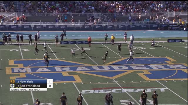 Watch New York PoNY vs San Francisco Revolver--Men's 2018 National Championship GIF by Bryce Merrill (@bmerrill) on Gfycat. Discover more Sports, USA Ultimate, USA Ultimate (Sports Association), Ultimate (sport), disc, frisbee, sport, usau GIFs on Gfycat