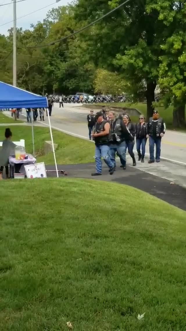 Watch and share Biker Group Shows Up To Girl's Lemonade Stand GIFs by gangbangkang on Gfycat