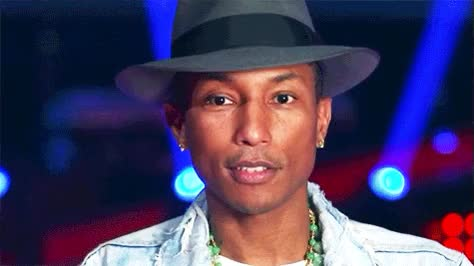 Watch and share Pharrell Williams GIFs and Wink GIFs on Gfycat