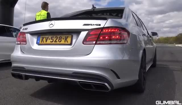 Watch and share Mercedes-Benz E63 AMG - BURNOUT, REVS, DRAG RACING!! GIFs on Gfycat